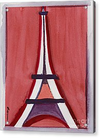 Eiffel Tower Red White Acrylic Print
