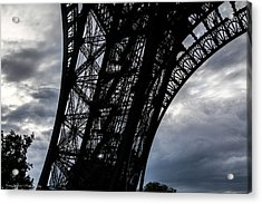Acrylic Print featuring the photograph Eiffel Tower Storm by Ross Henton