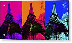 Eiffel Tower Three 20130116 Acrylic Print by Wingsdomain Art and Photography