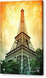 Eiffel Tower Warmth Acrylic Print
