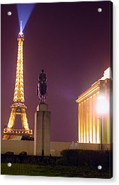 Eiffel Tower With A Monument Acrylic Print