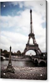 Eiffel Trinket Acrylic Print by Ryan Wyckoff