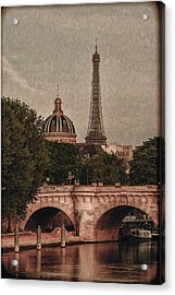 Eiffeltower With Pont Neuf Acrylic Print