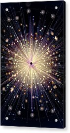 Eight Of Wands/stars - Artwork From The Science Tarot Acrylic Print