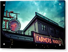 Eight Thirty Four At The Farmers Market Acrylic Print by Brian Xavier