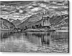 Eilean Donan - A Reflection Without Colour Acrylic Print