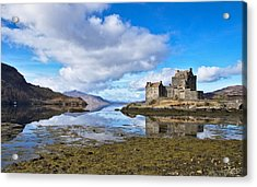 Eilean Donan And Loch Alsh Acrylic Print by David Peat