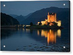 Eilean Donan Castle At Night Acrylic Print by Jeremy Voisey