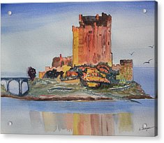 Eilean Donan Castle  Dornie Inverness Shire Scotland Acrylic Print by Warren Thompson