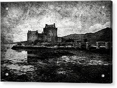 Eilean Donan Castle In Scotland Bw Acrylic Print