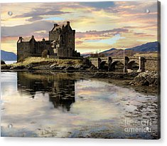 Acrylic Print featuring the photograph Eilean Donan Castle Scotland by Jacqi Elmslie