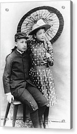 Einstein And His Sister Maja Acrylic Print by Emilio Segre Visual Archives/american Institute Of Physics