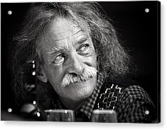 Einstein Hair Acrylic Print