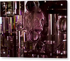 Einstein In Crystal - Purple Acrylic Print