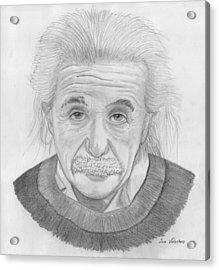 Einstein Portrait Acrylic Print
