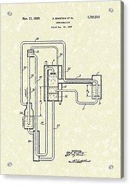 Einstein Refrigerator 1930 Patent Art Acrylic Print by Prior Art Design