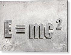 Einstein Sculpture Emc2 Canberra Australia Acrylic Print