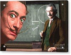 Einstein Shows Dali The Theory Of Relativity 20141215 Acrylic Print