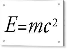 Einstein's Mass-energy Equation Acrylic Print by Science Photo Library