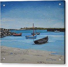 Eirlough Boats Roundstone Connemara Ireland Acrylic Print