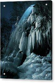 Eisfall Im Mondlicht Acrylic Print by Nicolas Schumacher