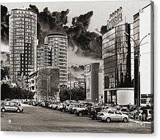 Acrylic Print featuring the pyrography Ekaterinburg by Evgeniy Lankin