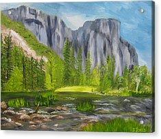 El Capitan And The River Acrylic Print by Sally Jones