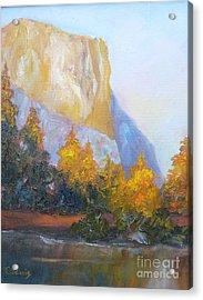 El Capitan Light Acrylic Print by Carolyn Jarvis