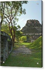 El Castillo Pyramid, Xunantunich Acrylic Print by William Sutton
