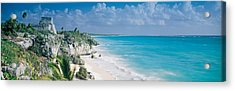 El Castillo, Quintana Roo Caribbean Acrylic Print by Panoramic Images