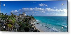 El Castillo Tulum Mexico Acrylic Print by Panoramic Images