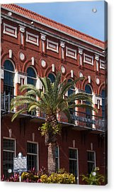 Acrylic Print featuring the photograph El Centro Espanol De Tampa by Paul Rebmann