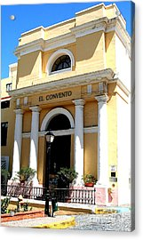 El Convento Hotel Acrylic Print by The Art of Alice Terrill