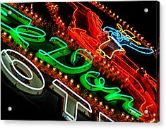Acrylic Print featuring the photograph El Don Neon by Daniel Woodrum