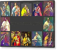 El Greco's Apostles Of Christ Acrylic Print by Barbara Griffin