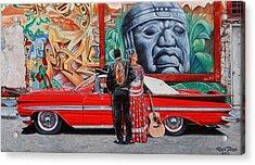 El Mariachi Y La Danzante Acrylic Print