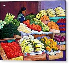 El Mercado Acrylic Print by Candy Mayer