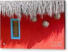 El Muro Roja Acrylic Print