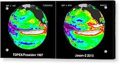 El Nino Comparison Acrylic Print by Nasa/jpl-caltech