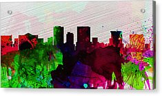 El Paseo City Skyline Acrylic Print by Naxart Studio