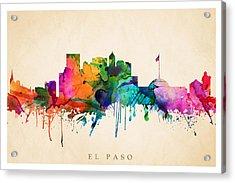 El Paso Cityscape Acrylic Print