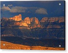 El Pico And Sierra Del Carmen Acrylic Print
