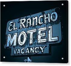 Acrylic Print featuring the photograph El Rancho Motel by Gigi Ebert