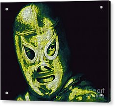 El Santo The Masked Wrestler 20130218p39 Acrylic Print by Wingsdomain Art and Photography