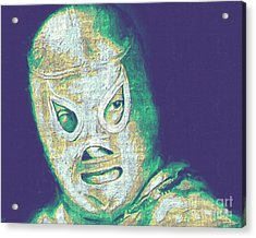 El Santo The Masked Wrestler 20130218v2 Acrylic Print by Wingsdomain Art and Photography