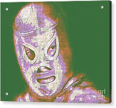 El Santo The Masked Wrestler 20130218v2m128 Acrylic Print by Wingsdomain Art and Photography