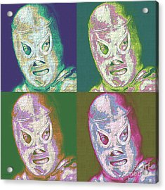 El Santo The Masked Wrestler Four 20130218 Acrylic Print by Wingsdomain Art and Photography