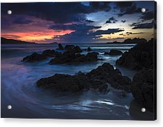 Acrylic Print featuring the photograph El Villar Beach Galicia Spain by Pablo Avanzini