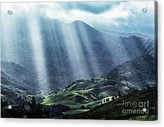 El Yunque And Sun Rays Acrylic Print