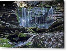 Elakala Falls Number 1 Acrylic Print by Shelly Gunderson